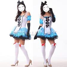 Alice in Wonderland Costume French Maid Cosplay Halloween Fancy Dress Outfits