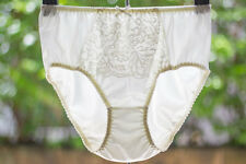 Vintage Nylon Lingerie Granny Bloomers Panties Sissy Sheer Front Lace Briefs