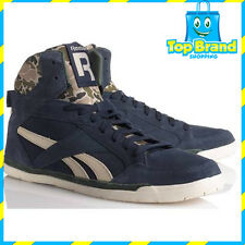 REEBOK womens shoes fashion HI TOPS HIP HOP HIGH TOP CLASSIC BLUE LADIES 9.5 US