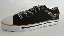 Pony 121A35 Shooter Mens Black/Gold/Earth Yellow Trainers EU Sizes 40 -42 (GO)