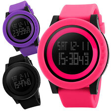 Men Women Unisex Military Sports Silicone Waterproof LED Digital Watch Exquisite