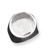 Sterling Silver Circle Concave Ring - Ring Size: 6 to 8