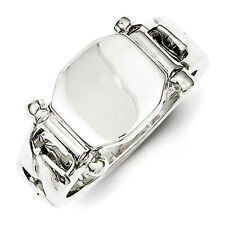 Sterling Silver Fancy Signet Ring - Ring Size: 6 to 8