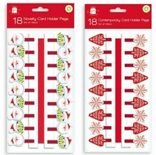 Christmas Novelty Card Holder Pegs - Packs of 18 (2 designs in each pack)