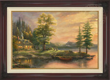 Thomas Kinkade Morning Light Lake 24 x 36 Limited Edition S/N Canvas Framed