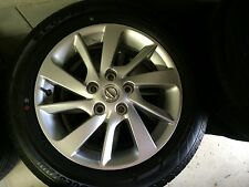 "NEW NISSAN PULSAR FACTORY 16"" ALLOY WHEELS + BRIDGESTONE TYRES RRP $ 1990"