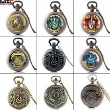 Vintage Harry Potter Pocket Watch Necklace Chain Quartz Watch Pendant Gift Retro