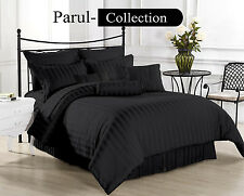 Special 600-800-1000-1200TC Black Stripe 1000TC 100% Egyptian Cotton US Bedding