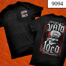 PURO VATO LOCO BLACK TEE CHICANO FIRME ART WORK PRINTED BOTH SIDES rap