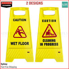 Wet Floor Sign Caution Slippery Cleaning In Progress Hazard Warning Yellow Frame