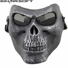 Tactical Skull Army Airsoft Paintball Hunting Full Face Protect Mask Mesh Goggle
