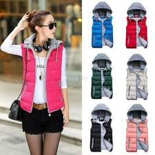 Winter Autumn Women Cotton Padded Vest Casual Warm Waistcoat Down Jacket Coat