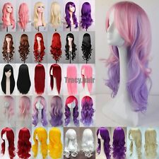 20Colors Womens Long Hair Wig Curly Wavy Synthetic Anime Cosplay Party Full Wigs