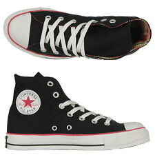 Converse - Chuck Taylor Hi Top Shoes/Black/White/Red