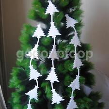 Christmas Tree Foam Ornaments White Hanging Decorations