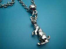 1 Tibetan silver moon gazing hare necklace -24 inches 60 cm - wiccan pagan Wicca
