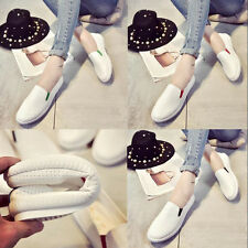 Hot Sell Fashion New Womens White Shallow Mouth Casual Flats Single Shoes