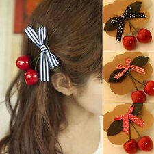 YH Cherry Bow Hair Clip for Pinup girls Retro Vintage Rockabilly hair accessory