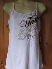 "UNIT FMX LADIES ""SPLENDID"" SINGLET. SIZES 10(S) OR 14(L). BNWT BLACK OR WHITE."