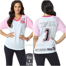 ZUMBA® Party In Pink™ Baseball Tee T Shirt Top Racerback Tank All Sizes