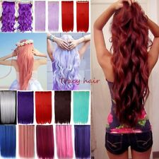 US HOT 100%Real Natural Cosplay Hair Extension Clip In Hair Extension Ombre H912
