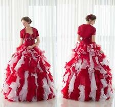 Vintage Bridesmaid dress Prom Party Gown Taffeta Ball Gowns with Jacket in stock