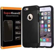 Heavy-Duty Case Armor + Tempered Glass Screen Protector For iPhone 7 / 7 Plus