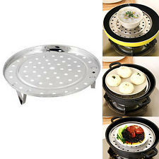 Stainless Steel Steamer Rack Insert Stock Pot Steaming Tray Stand Cookware Gift
