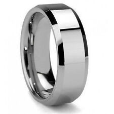 New Sale Men's 8mm Tungsten Carbide Wedding Band Ring Size 9 10 11 12 Us Seller