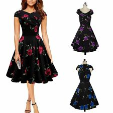Rockabilly 50s 60s Vintage Cocktail Party Evening Retro Swing Dance Dress