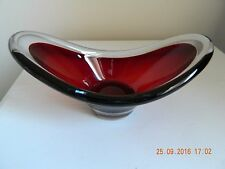 Gorgeous sommerso art glass ruby red cased bowl Murano?