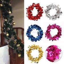 Xmas Christmas Tree Hanging Pine Garland with Stars Ornament Party Holiday Decor