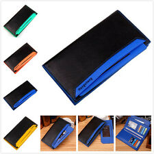 Mens Leather ID credit Card holder Clutch Coin Purse Bifold Wallet Billfold Tote