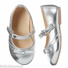 NWT Gymboree Silver Flats Dress shoes Toddler girls 5,6,7,8,9,10