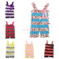 0-3Y Infant Baby Kids Girls Lace Petti Ruffle Rompers Tutu Shorts One Piece Suit
