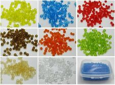 5000 Glass Transparent Seed Beads 2mm (10/0) + Storage Box Pick Your Colour