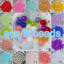 6-20MM Loose Jelly Round Plastic Gumball Spacer Beads Acrylic Ball Beads Chunky
