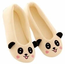 New Cute Animal Slippers Plush Women Shoes, Soft, Warm, Ladies, Panda, Slip On