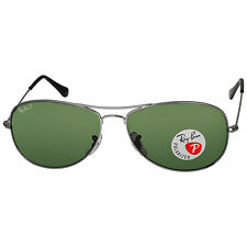 Ray Ban Cockpit Gunmetal Green Polarized 59mm Sunglasses RB3362 004/58 59-14
