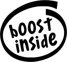 Boost Inside - Vinyl Car Window and Laptop Decal Sticker