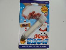 Magic Snow, Tube,  expands 100 times when water added, looks like real snow,