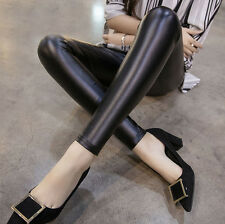 Sexy Imitation Leather Women's Leggings Lady Girl Thin Tight Feet Popular Hot
