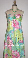 NWT Lilly Pulitzer Silk CLAUDIE Formal 2 4 DRESS Wedding MAXI Set in Stone Prom