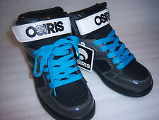 Osiris Boys / Girls Blue Black High Top Skater Shoes Youth Size 4 New