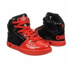Osiris Boys / Girls Red Black High Top Crooklyn Skater Shoes Size 4 New