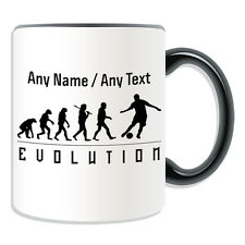 Personalised Gift Football Mug Money Box Cup Evolution Design Team Player Name