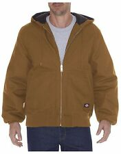 Men's Dickies TJ718 Rigid Duck Hooded Zippered Jacket Med-2X NWT