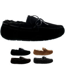 Mens Real Australian Sheepskin Loafer Winter Fur Lined Moccasin Slippers US 7-15