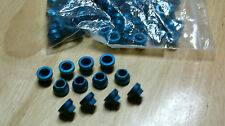 100 lot of 5/16 Blue Aluminum Anodized Aircraft self locking nuts thread 5/16-24