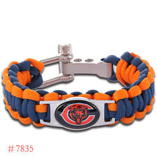Chicago Bears, Green Bay Packers, Dallas Cowboys Paracord Awesome Bracelet